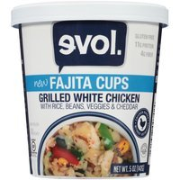 evol Grilled White Chicken Fajita Cup