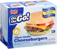 Fast Fixin'® On the Go! Flame-Broiled Cheeseburgers 6-3.4 oz. Box
