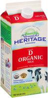 Stremicks Heritage Foods® Organic Vitamin D Milk 0.5 gal. Carton.