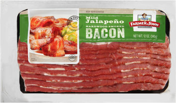 Farmer John® Mild Jalapeno Hardwood Smoked Bacon 12 oz. Pack