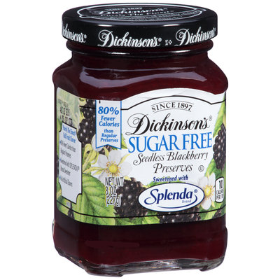 Dickinson's® Sugar Free Seedless Blackberry Preserves 8 oz. Jar