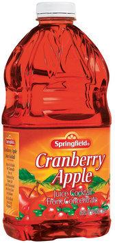 Springfield  Cranberry Apple Juice Cocktail 64 Fl Oz Plastic Bottle