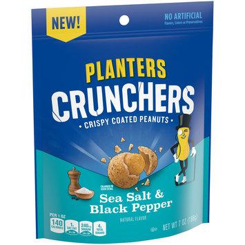 Planters Crunchers Sea Salt & Black Pepper Crispy Coated Peanuts