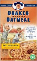Quaker® Oatmeal Sweet Roasted Pecan Instant Oatmeal