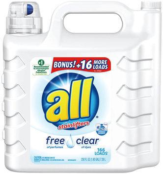 all® free clear Laundry Detergent Bonus 166 Loads 250 fl. oz. Bottle