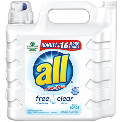 all® free clear Laundry Detergent Bonus 166 Loads 250 fl. oz. Bottle