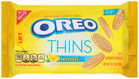 Nabisco Oreo Thins Lemon Creme Sandwich Cookies 10.1 oz. Pack