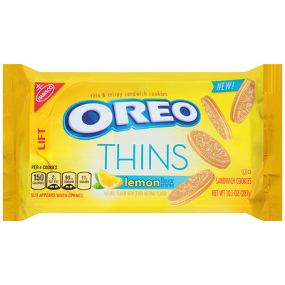 Nabisco Oreo Sandwich Cookies Thins Lemon Creme