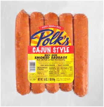 Polk's Cajun Style Bun Size Smoked Sausage 16 oz. Pack