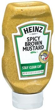 Heinz Spicy Brown Mustard 17.5 Oz Squeeze Bottle