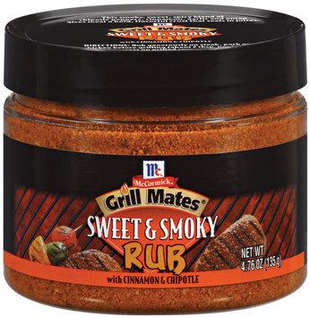 Rubs Sweet & Smoky W/Cinnamon & Chipotle Grill Mates Rub 4.76 Oz Plastic Jar