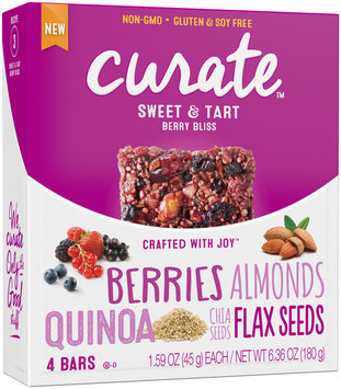 Curate™ Berry Bliss Snack Bars 4-1.59 oz. Packs