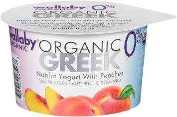 Wallaby® Organic Greek Nonfat Yogurt with Peaches 5.3 oz. Cup