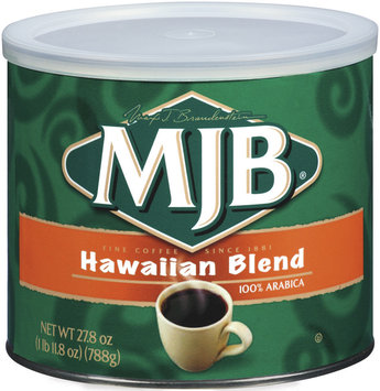 MJB Hawaiian Blend 100% Arabica Coffee 27.8 Oz Canister