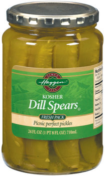Haggen Dill Spears Fresh Pack Pickles 24 Fl Oz Jar