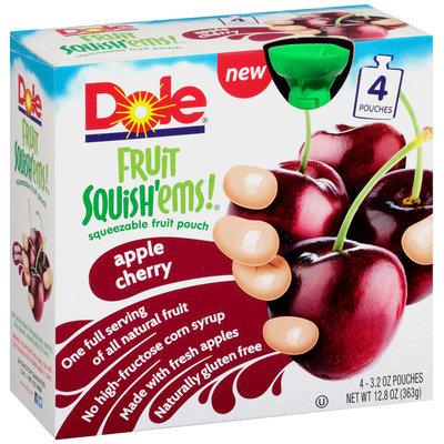 Dole® Fruit Squish'ems!® Apple Cherry Squeezable Fruit 4-3.2 oz. Pouches