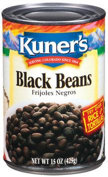 Kuner's Frijoles Negros Black Beans 15 Oz Can