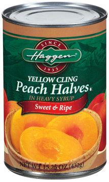 Haggen Yellow Cling In Heavy Syrup Peach Halves 15.25 Oz Can