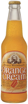 Henry Weinhard's Orange Cream Gourmet Soda 12 Oz Glass Bottle