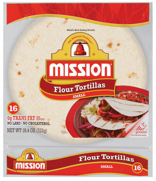 Mission Flour Small 16 Ct Tortillas 18.4 Oz Bag