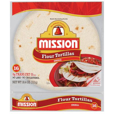 Mission Flour Small 16 Ct Tortillas 18.4 Oz Bag