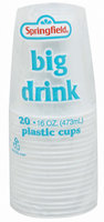 Springfield Clear Plastic 16 Oz Cups 20 Ct Bag