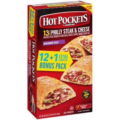 HOT POCKETS Frozen Sandwiches Philly Steak & Cheese 13 ct. Box