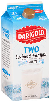 Darigold® Two Reduced Fat Milk 0.5 gal. Carton