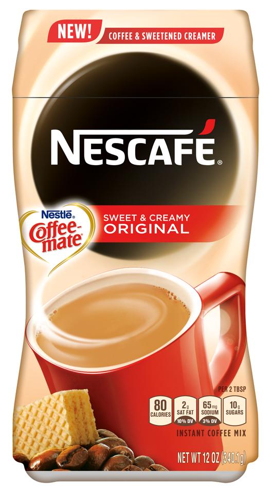 NESCAFE with COFFEE-MATE 2-in1 Coffee + Creamer Combo, Original 12 oz. Plastic Container