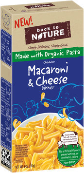 Back to Nature Cheddar Macaroni & Cheese Dinner 6 oz. Box