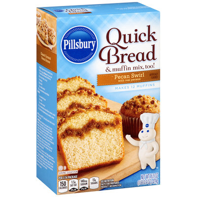Pillsbury Pecan Swirl Quick Bread & Muffin Mix 16.9 oz. Box
