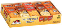 Austin Variety Pack Cheese W/Peanut Butter/Toasty Crackers W/Peanut Butter/Cheese Crackers W/Cheddar Cheese Cracker Sandwiches 13.8 Oz Box