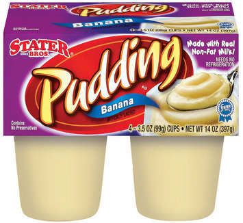 Stater Bros. Banana Pudding 4 Ct Cups
