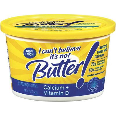 I Can't Believe It's Not Butter! Calcium + Vitamin D Spread 15 Oz Plastic Tub