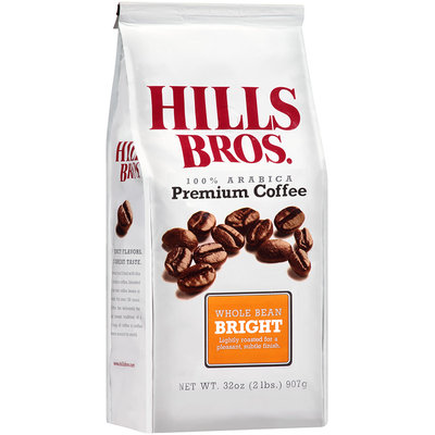 Hills Bros.® Bright Whole Bean Coffee 32 oz. Stand Up Bag