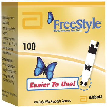 Freestyle For In Vitro Diagnostic Use Test Strips 100 Ct Box