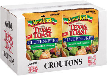 New York Brand® The Original Texas Toast Gluten-Free Seasoned Herb Croutons 4 oz. Pouch