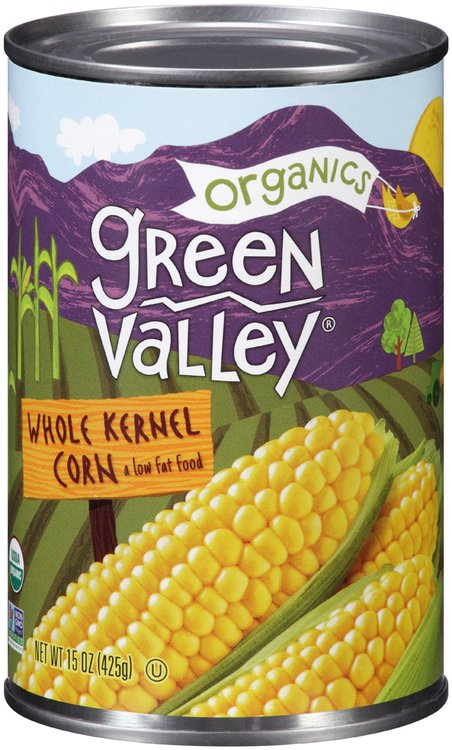 Green Valley® Organics Whole Kernel Corn 15 oz. Can