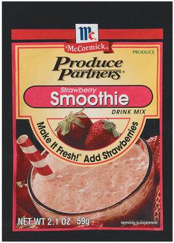 Produce Partners Strawberry Smoothie Drink Mix 2.1 Oz Peg