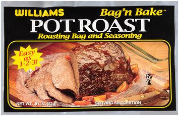 Williams Bag'n Bake™ Pot Roast Roasting Bag & Seasoning Mix 0.81 oz. Packet