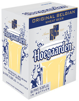 Hoegaarden Original Belgian Wheat Beer 6x1 Pint, 9.36 fl. oz. Glass Bottles