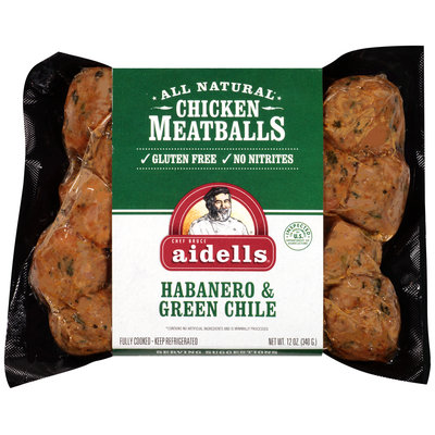 Aidells® Habanero & Green Chile Chicken Meatballs 12 oz. Pack