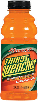 Schnucks Thirst Quencher Orange Sports Drink 20 Oz Plastic Bottle