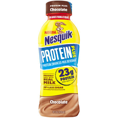 Nestl nesquik protein plus chocolate milk beverage 14 fl oz nestl nesquik protein plus chocolate milk beverage 14 fl oz bottle sciox Choice Image