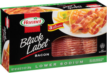 Hormel™ Black Label® Lower Sodium Bacon 3-1 lb. Packages