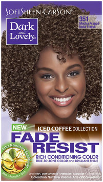 SoftSheen-Carson® Dark and Lovely® Fade Resist Rich Conditioning Color 351 Mocha Frappe 1 Kit Box