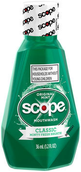 Scope Classic Original Mint Mouthwash 36 mL, 1.2 fl oz