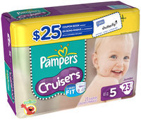 Pampers Cruisers Jumbo Pack Size 5 Diapers 23 ct Bag