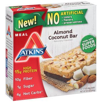 Atkins® Almond Coconut Meal Bars 8.5 oz. Box