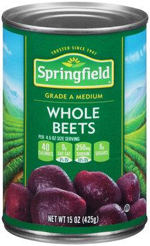 Springfield® Medium Whole Beets 15 oz. Can